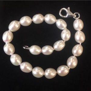 Jewelry - Sterling Silver 925 Cultured Pearl Bracelet